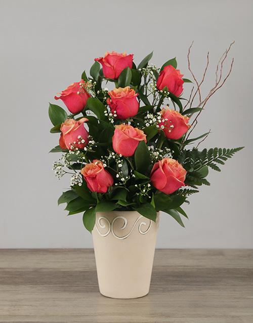 roses: Cherry Brandy Rose Pot!