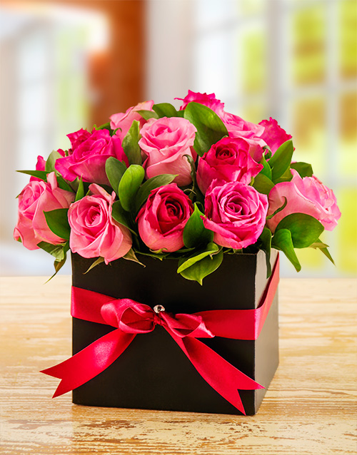 apology: Perky Mixed Pink Roses in a Box!