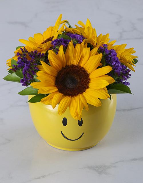 seasonal: Sunflower Smiley Pot!