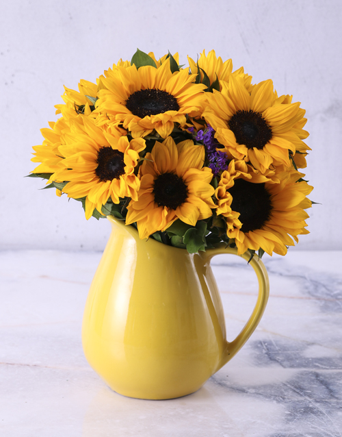 whats-new: Sunflowers in Ceramic Water Jug!