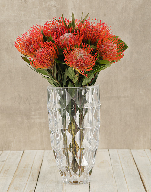 flowers: Pincushions in Large Flair Vase!