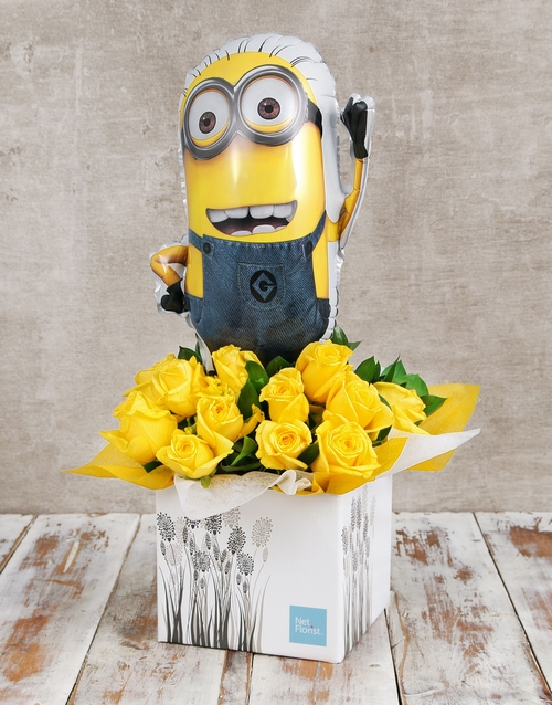 in-a-box: Despicable Me Balloon and Rose Box!