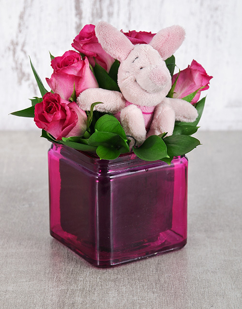 teddy-bears: Piglet Rose Vase!
