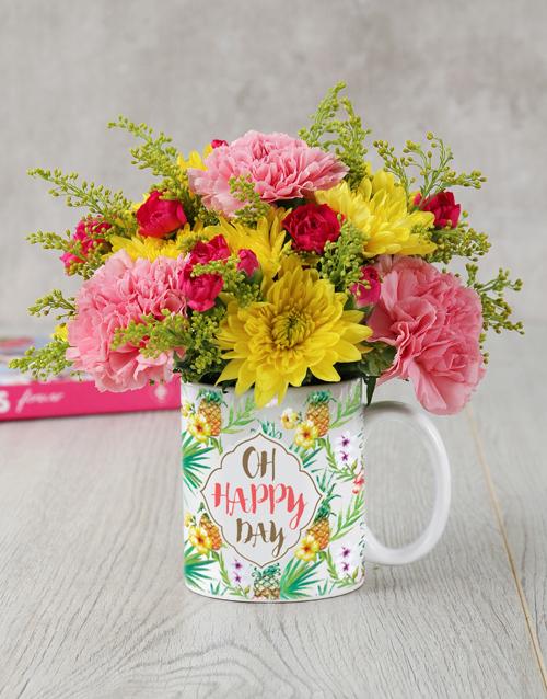 mugs: Oh Happy Day Mug Arrangement in Bulk!