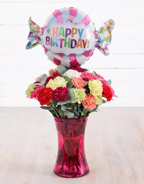 carnation: Carnations and Birthday Balloon Treat!