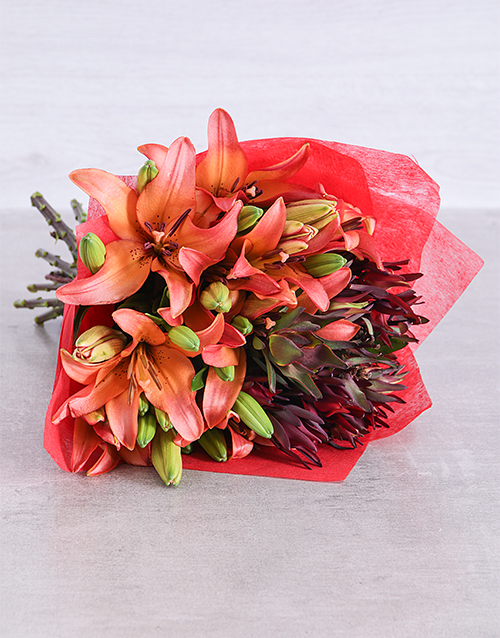 lilies: Sunset Asiflorum Lily Surprise!