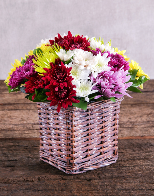 prices: Mixed Sprays in Brown Basket!