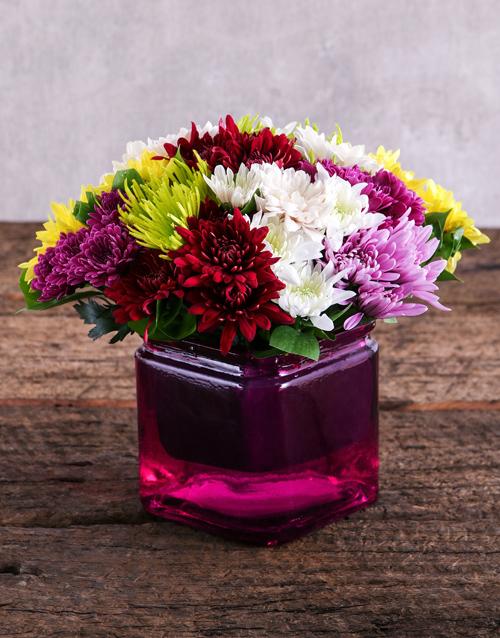 flowers: Sprays in Pink Square Vase!
