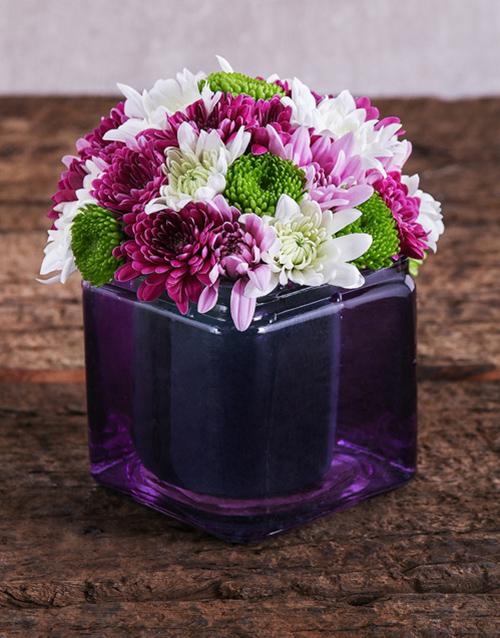 coloured-vases: Purple Passion Sprays Arrangement!