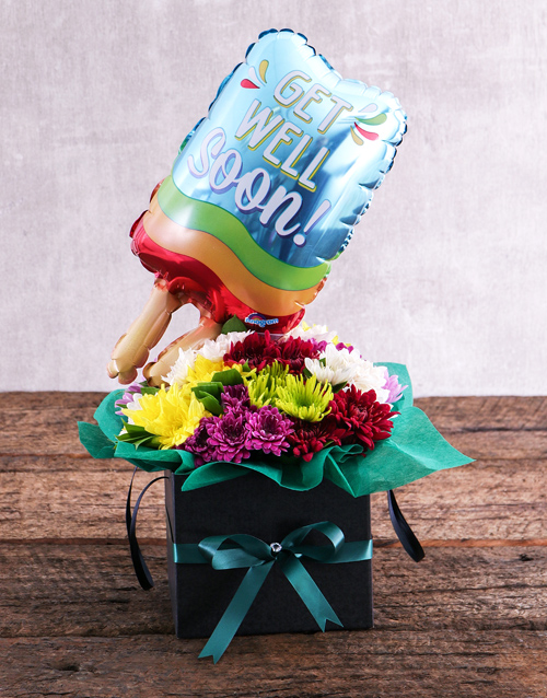 balloon: Get Well Balloon and Sprays in Black Box!