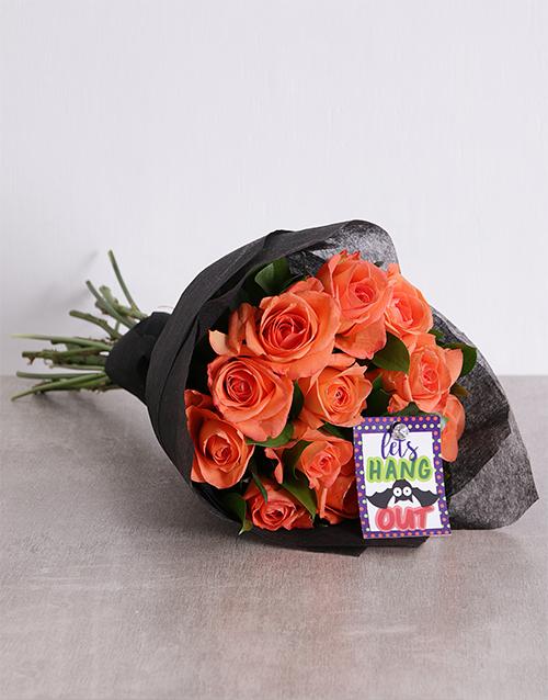 roses: Halloween Orange Rose Bouquet!