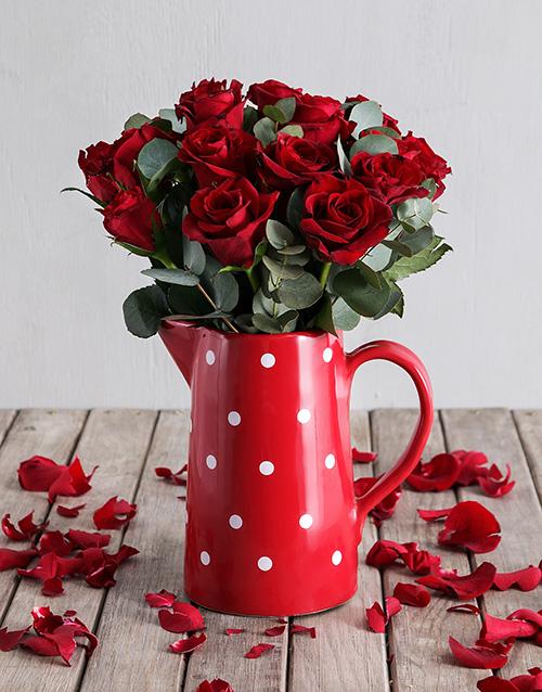 anniversary: Freckled Red Rose Jug!