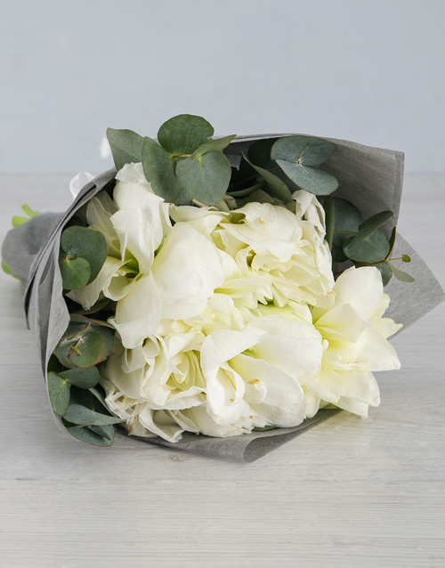 bouquets: Cut Amaryllis in Grey Wrapping!