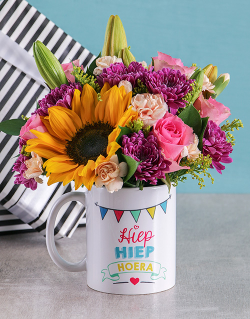 mugs: Mixed Flowers Celebration Mug!