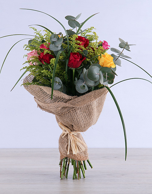 roses: Exotic Mixed Rose Bouquet!