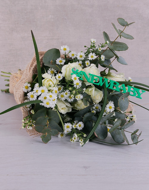 bouquets: New Baby White Roses!