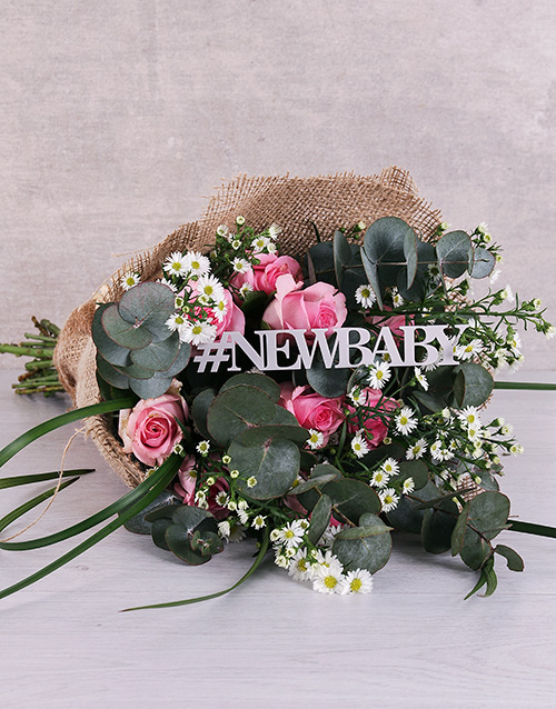 bouquets: New Baby Delicate Pink Bouquet!