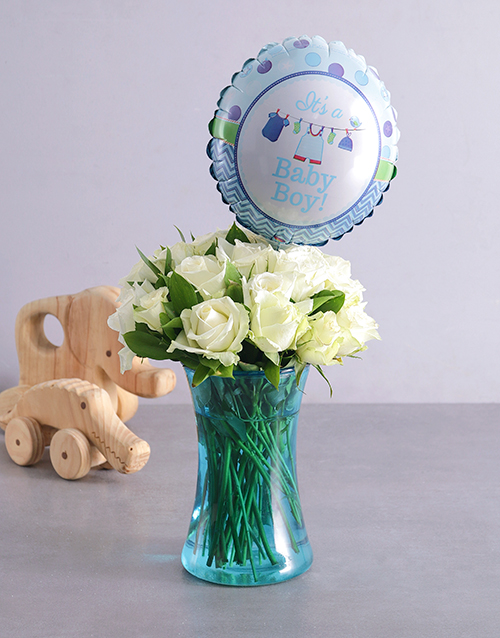 colour: Baby Boy and Blue Arrangement!
