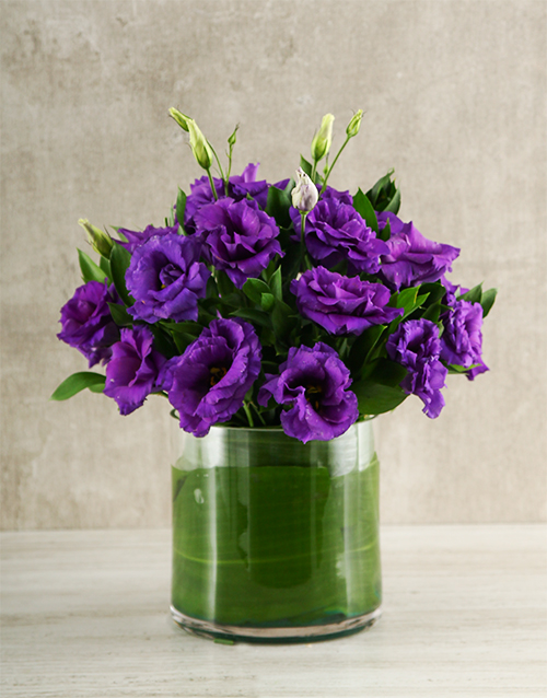 seasonal: Purple Lisianthus Vase!