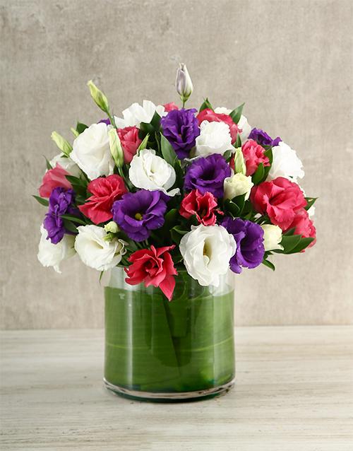 flowers: Mixed Lisianthus Vase!