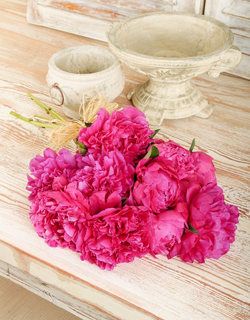flowers: Bouquet of Cerise Pink Peonies!