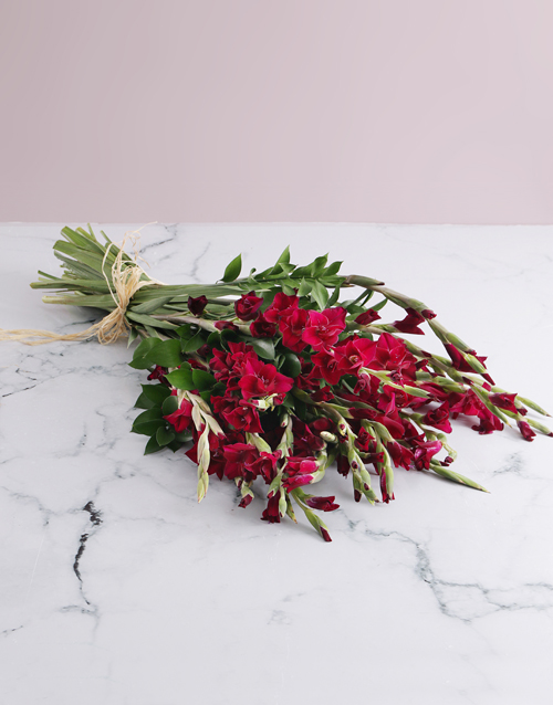sympathy: Purple Gladiolus Bouquet!