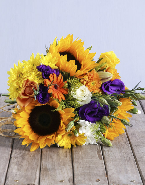 flowers: Sensational Sunflower Bouquet!