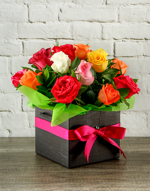 best-sellers: Mixed Roses in Black Box!