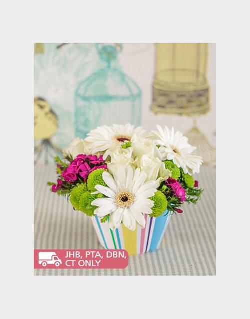 colour: Gerbera and Rose Flower Cupcake!