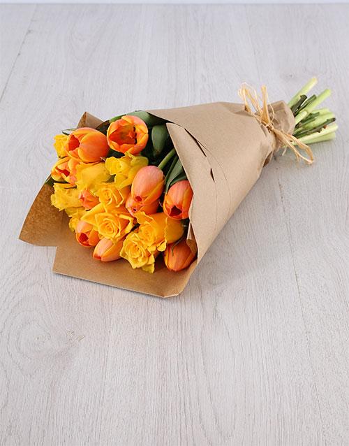 tulips: Tulips & Yellow Roses!