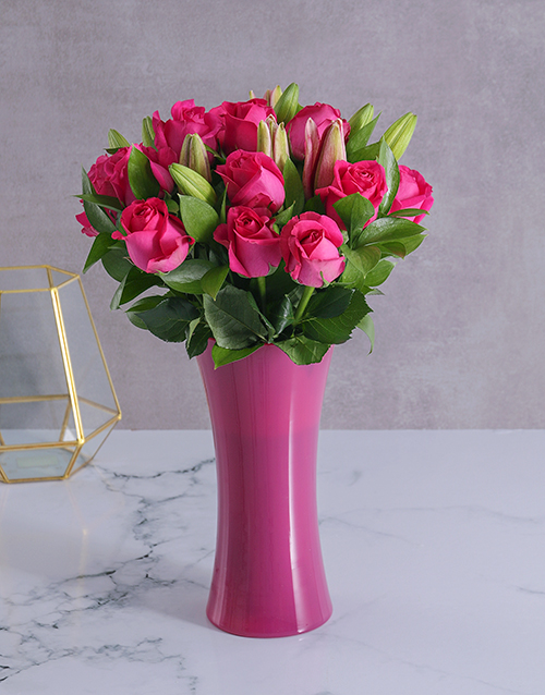 flowers: Pink Fantasy Arrangement!