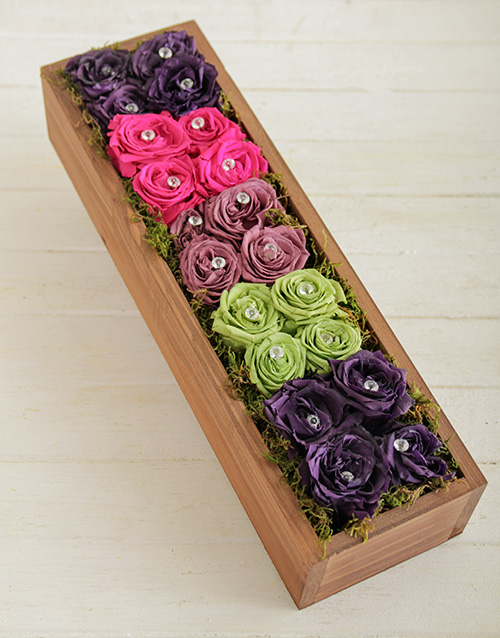get-well: Rainbow Rose Box!