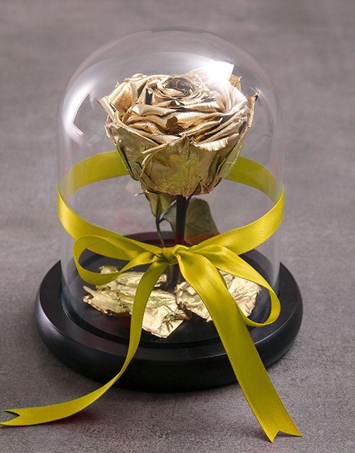silk: Tale As Old As Time Preserved Gold Rose!