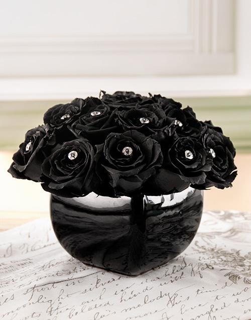 silk: Black Magic Rose Arrangement!