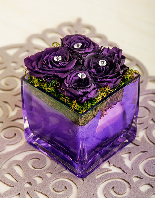 silk: Midnight Magic Rose Arrangement!