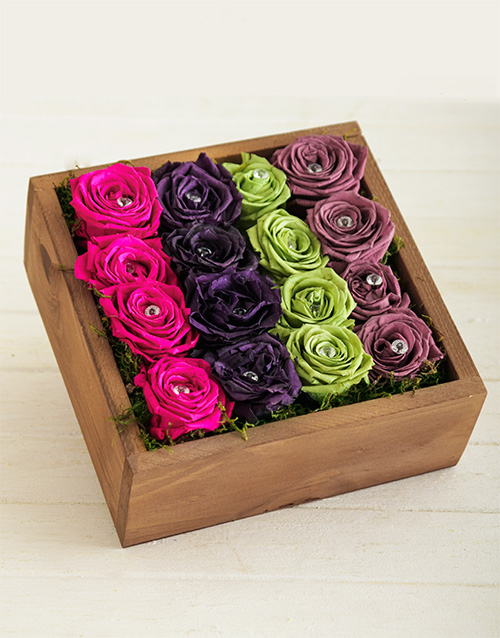 silk: Rainbow Bright Roses in a Box!