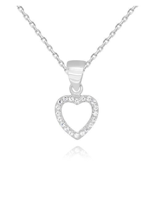 birthday: Silver Pave Open Heart Pendant !