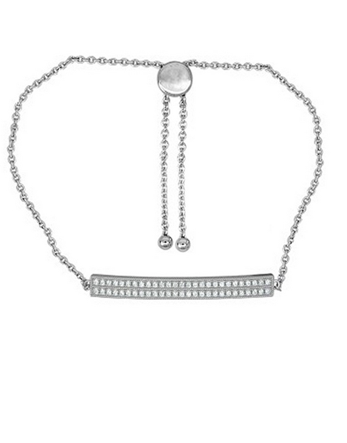 sale: 925 Silver Cubic Bar 19cm Bracelet!