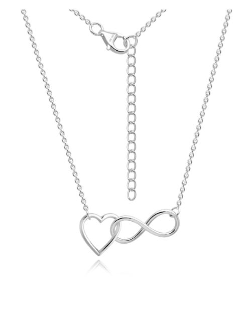 anniversary: Silver Open Heart Infinity Necklace!