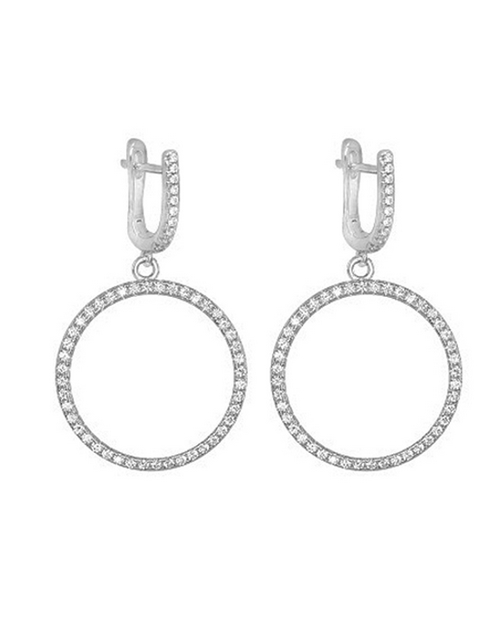 sale: Silver 925 Drop Circle 108 Cubic of life Earrings!