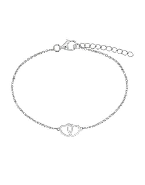 bracelets-and-bangles: Sterling Silver Heart Bracelet!