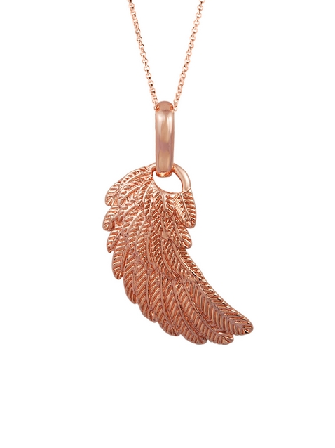 shiroko: Shiroko Large Rose Gold Angels Wing Pendant!