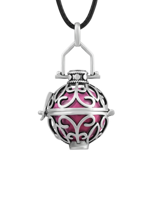 shiroko: Shiroko Harmony Bell Rose Pink Cage Necklace!