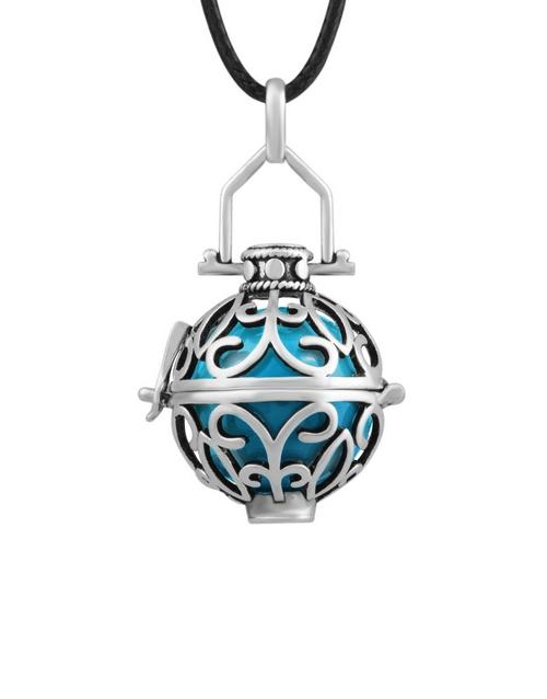 shiroko: Shiroko Harmony Bell Blue Cage Necklace!