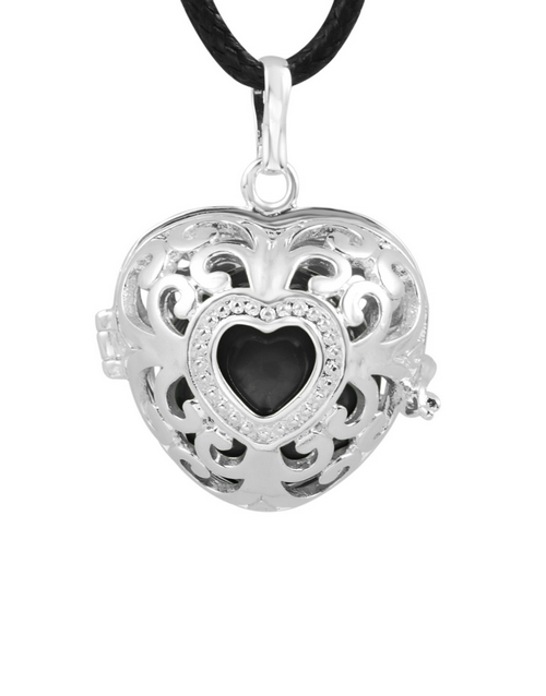 shiroko: Shiroko Harmony Bell Black Heart Necklace!