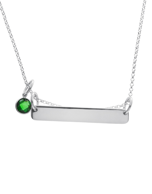 sale: Silver Personalised Bar and Birthstone Charm!