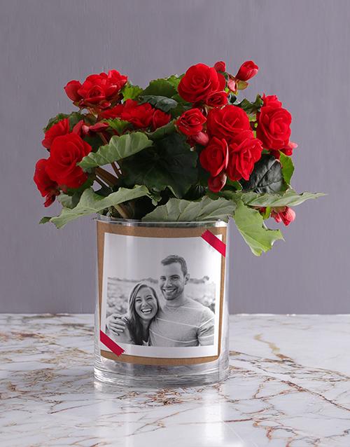 personalised: Personalised Begonia Love Photo Vase!