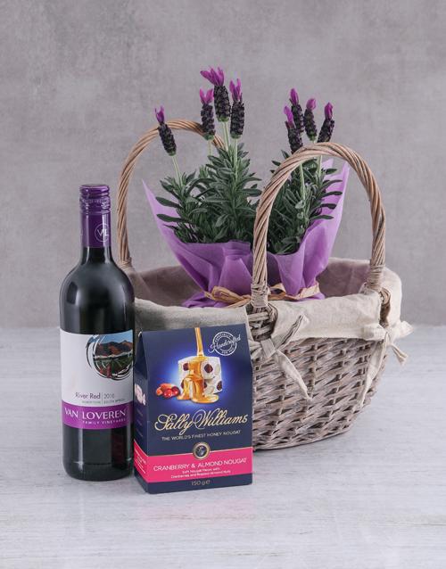 colour: Lavender and Liquor Basket!