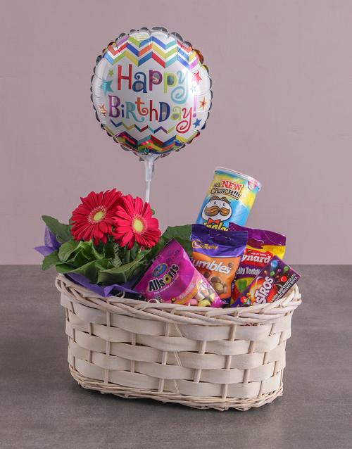 flowers: Gerbera Birthday Basket Bundle !