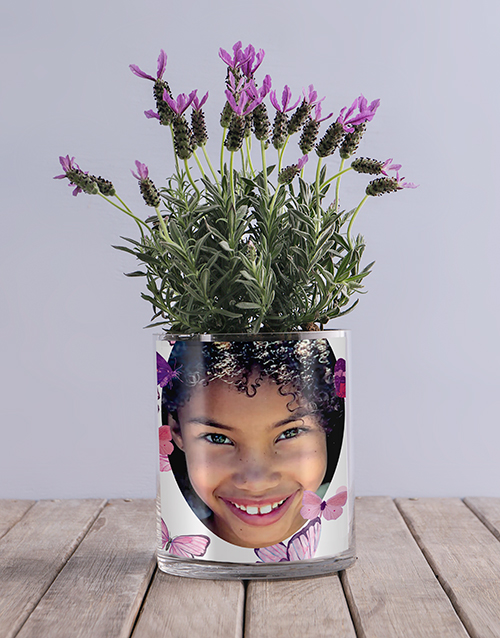 colour: Lavender Butterfly Photo Vase!